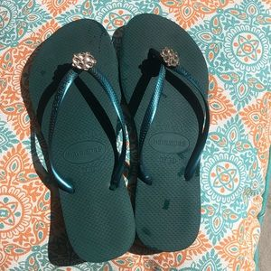 Havaianas flip flops (jeweled)